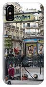 Entrance To The Paris Metro IPhone Case
