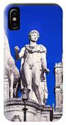Equestrian Statue At Capitoline Hill IPhone Case
