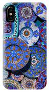 Erice Italy Plates Blue IPhone Case