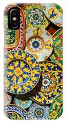 Erice Sicily Plates Yellow IPhone Case