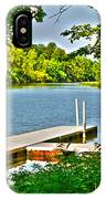 Erie Canal Dockage IPhone Case