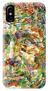Ernst Junger Watercolor Portrait IPhone Case