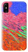 Erupting Lava Meets The Sea IPhone Case