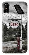 Esso Sign And Pump IPhone Case