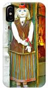 Estonian Greeter In Old Town Tallinn-estonia IPhone Case