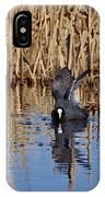 Eurasian Coot And The Bubles IPhone Case