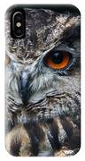 European Eagle Owl  IPhone Case