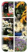 European Flower Market Collage IPhone Case