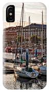 Evening On The Harbor  IPhone Case