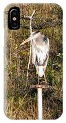 Ever Watchful Blue Heron IPhone Case