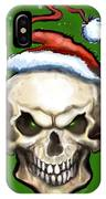 Evil Christmas Skull IPhone Case