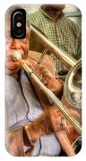 Excelsior Band Horn Player IPhone Case