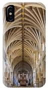 Exeter Cathedral And Organ IPhone Case