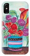 Expressive Flower Drawing IPhone Case