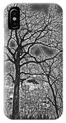 Extreme Contrast Bare Trees During Winter Photograph IPhone Case