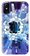 Extrusion Abstract Blue Purple Plum IPhone Case