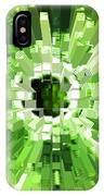 Extrusion Abstract Lime Green IPhone Case