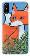 F Is For Fox IPhone Case