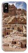 facade street in Nabataean ancient town Petra IPhone Case