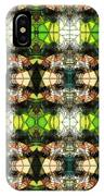 Face In The Stained Glass Tiled IPhone Case