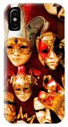 Faces Of Carnavale IPhone Case