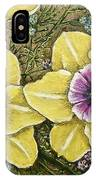 Faces Of Spring    IPhone Case