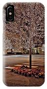 Fairhope Ave With Clock Night Image IPhone Case