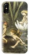Fairies And Water Lilies Circa 1870 IPhone Case