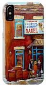 Fairmount Bagel In Winter Montreal City Scene IPhone Case