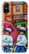 Fairmount Bagel Street Hockey Game IPhone Case