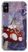 Fairy On A Mushroom IPhone Case