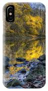 Fall Along The Scenic River IPhone Case