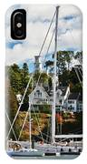 Fall And The Sailboats IPhone Case