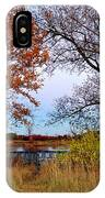 Fall At West Park Pond IPhone Case