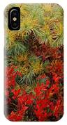 Fall Blueberries And Pine-sq IPhone Case