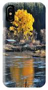 Fall Brilliance On Warm River IPhone Case