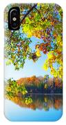 Fall By The Lake IPhone Case