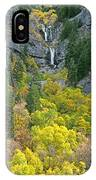 Fall Color And Waterfalls In Provo Canyon Utah IPhone Case