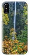 Fall Colors Frame Multnomah Falls Columbia River Gorge Oregon IPhone Case