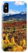 Fall Colors In Ridgway Colorado IPhone Case