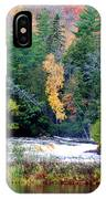 Fall Colors On The  Tahquamenon River   IPhone Case