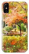 Fall Folage And Pond IPhone Case