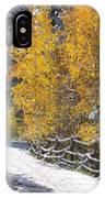 Fall Into Beartrap Meadow - Casper Mountain - Casper Wyoming IPhone Case