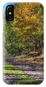 Fall On The Biketrail IPhone Case