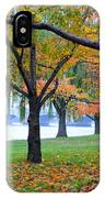 fall on the Potomac River IPhone Case