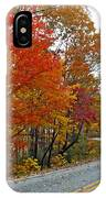 Fall Peak Along Slick Fisher Road IPhone Case