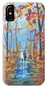 Fall Promenade  IPhone Case