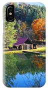 Fall Reflections At The Farm  IPhone Case