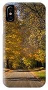 Fall Rural Country Gravel Road IPhone Case