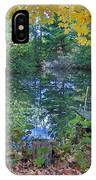 Fall Scene By Pond IPhone Case